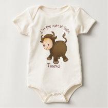 Astrologybabies Taurus - light skin Baby Bodysuit
