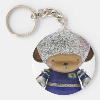 AstroMunny! Basic Round Button Keychain