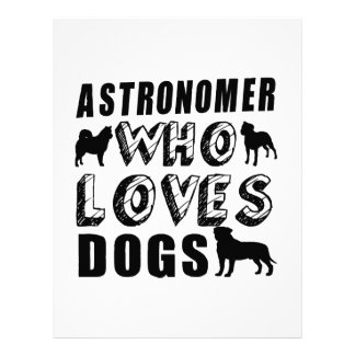 astronAomer Who Loves Dogs Letterhead