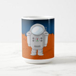 Astronaught - luna taza básica blanca