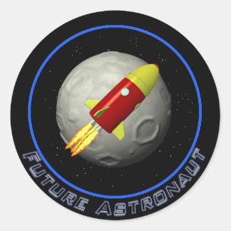 Astronaunt futuro pegatina redonda