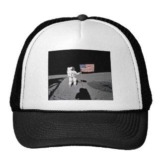 Astronaut Alan Shepard,  American Flag on Moon Hats