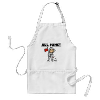 Astronaut All Mine T-shirts and Gifts Adult Apron