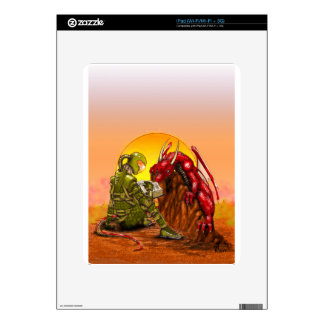 ASTRONAUT and DRAGON sci-fi fantasy design Decal For The iPad