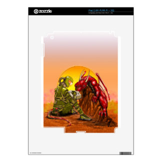 ASTRONAUT and DRAGON sci-fi fantasy design Decal For The iPad 2
