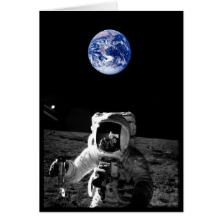 Astronaut and Earth Card