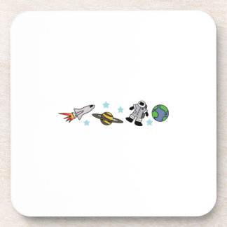 ASTRONAUT AND EARTH BEVERAGE COASTERS