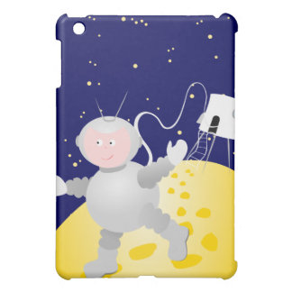 Astronaut and moon,  case for the iPad mini