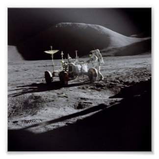 Astronaut and Rover Poster