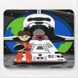 Astronaut and Space Shuttle Mousepad