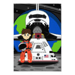 Astronaut and Space Shuttle RSVP Card Invitation