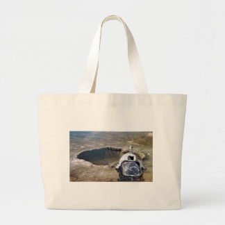 Astronaut and the Moon Large Tote Bag