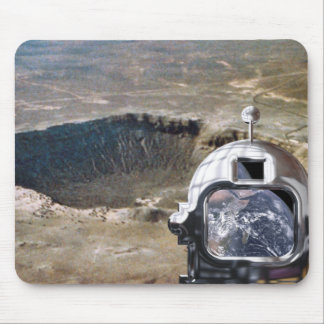Astronaut and the Moon Mouse Pad