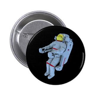 astronaut badge pinback button