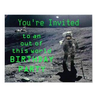 Astronaut Birthday Invite