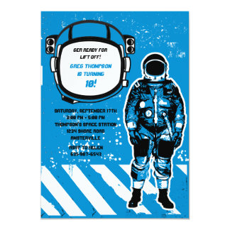 Astronaut Birthday Party Invitation