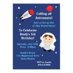 Astronaut Birthday Party Invitation Girl