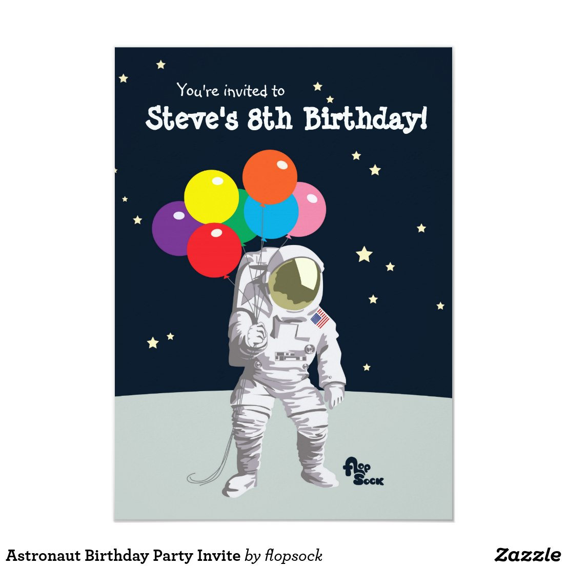 Astronaut Birthday Party Invite