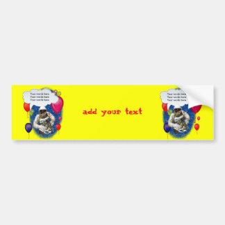 Astronaut Birthday Theme Party Bumper Sticker