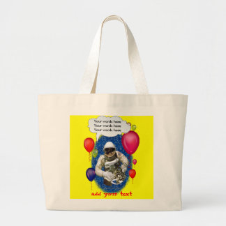 Astronaut Birthday Theme Party Large Tote Bag