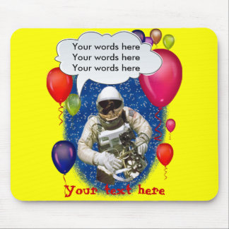 Astronaut Birthday Theme Party Mouse Pad