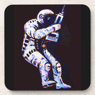Astronaut, Black Background Beverage Coasters