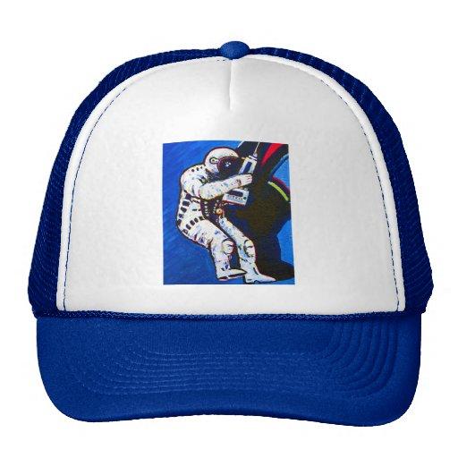 Astronaut, Blue Background Trucker Hat