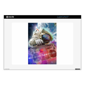 """Astronaut Boombox Decal For 15"""" Laptop"""