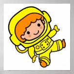 astronaut boy 1 poster
