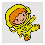 astronaut boy 1 posters