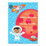 "Astronaut boy Birthday theme 5"" X 7"" Invitation Card"
