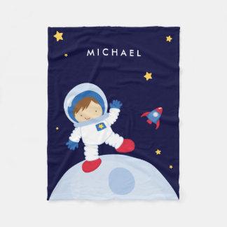 Astronaut Boy Fleece Blanket