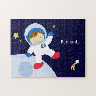 Astronaut Boy Kid's Personalized Jigsaw Puzzle
