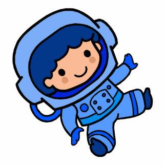 Astronaut Boy Standing Photo Sculpture