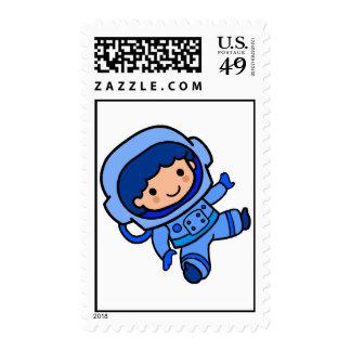 Astronaut Boy Stamp