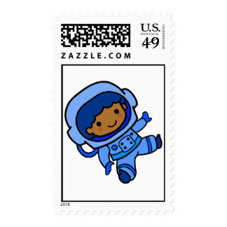 Astronaut boy postage stamps