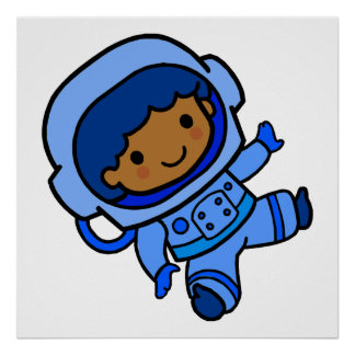 Astronaut boy poster