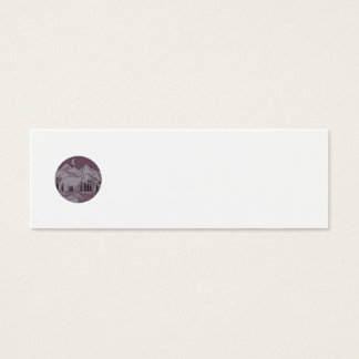 Astronaut Brontosaurus Mountain Moon Circle Mono L Mini Business Card