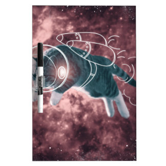 Astronaut Cat Kitten Funny Cosmos Dry Erase Board