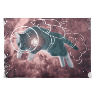 Astronaut Cat Kitten Funny Cosmos Placemat