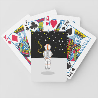Astronaut Caught Short Weeing in Space Bicycle Playing Cards