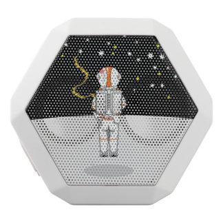 Astronaut Caught Short Weeing in Space White Bluetooth Speaker