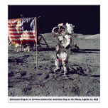 Astronaut Cernan on the Moon Apollo 17 1972 Posters