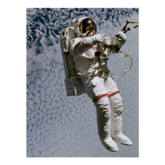 Astronaut Conducting a Spacewalk (STS-64) Poster