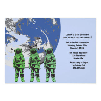 Astronaut Crew Birthday Party Invitation