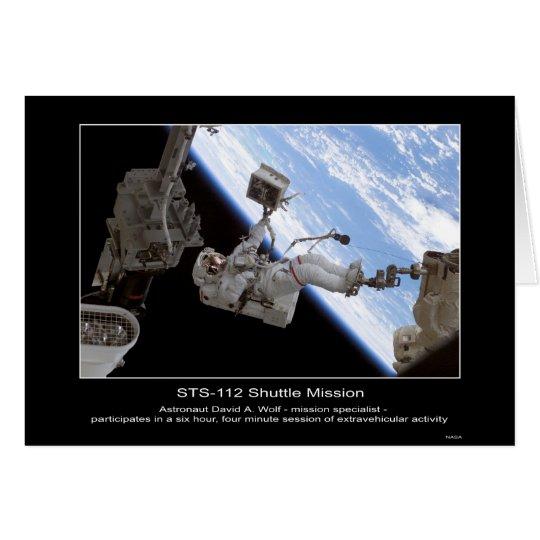 Astronaut David A. Wolf STS-112 Space Walk Card
