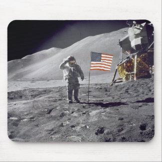 Astronaut David Scott Salutes Flag Mousepad