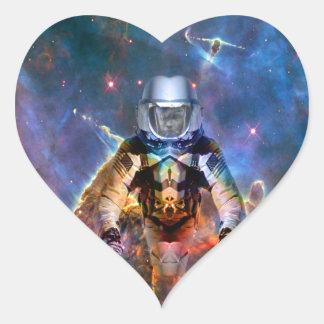 Astronaut Disintegration Heart Sticker