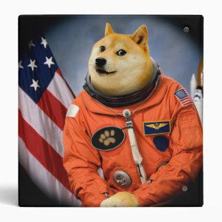 astronaut dog  - doge - shibe - doge memes 3 ring binder