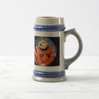 astronaut dog  - doge - shibe - doge memes beer stein